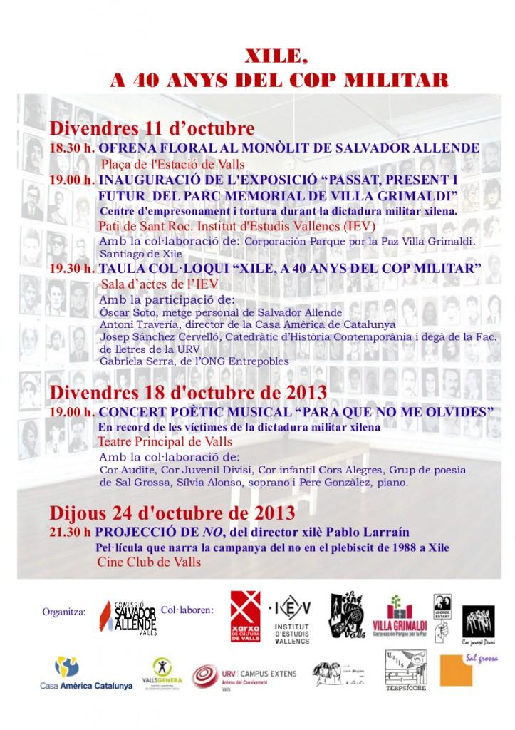 Programa CSAValls 2013